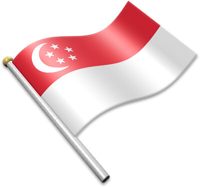 Flag Icons of Singapore.