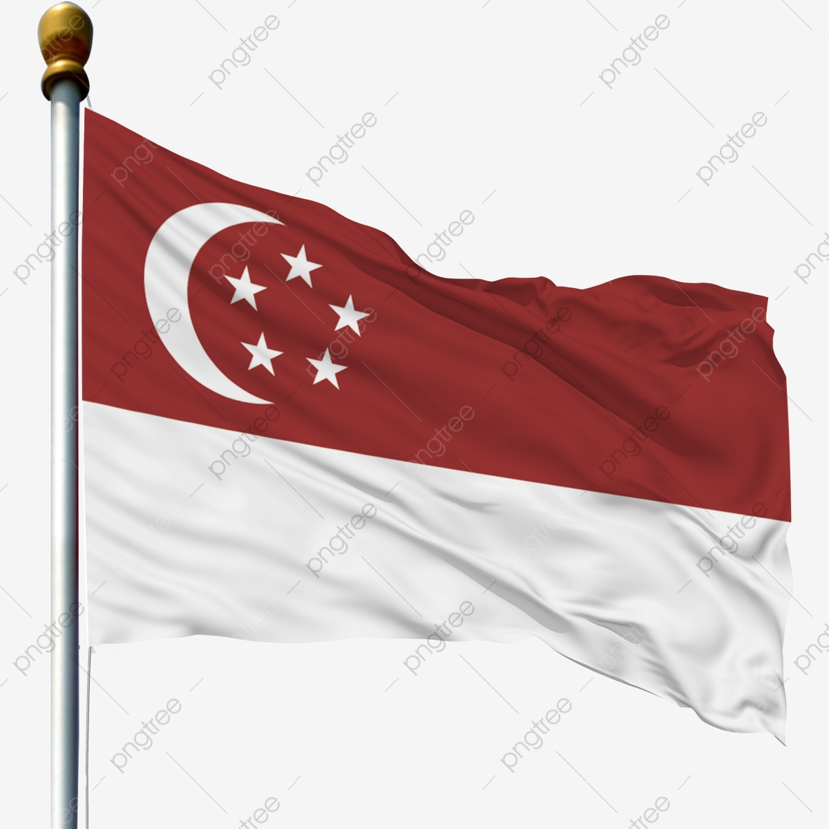 Singapore Flag, Singapore, Flag, Foreign Flag PNG and Vector.