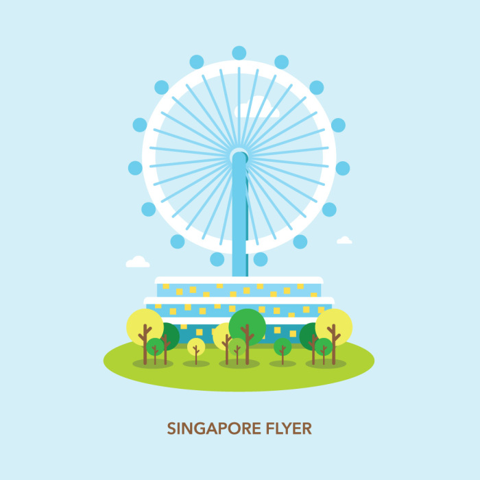 Singapore Flyer Illustration.