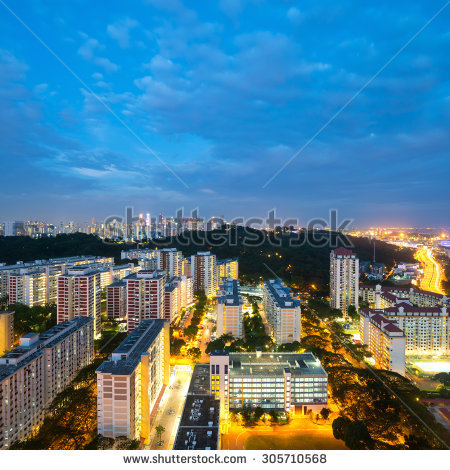 Singapore Hdb Stock Photos, Royalty.