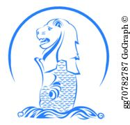 Merlion Clip Art.