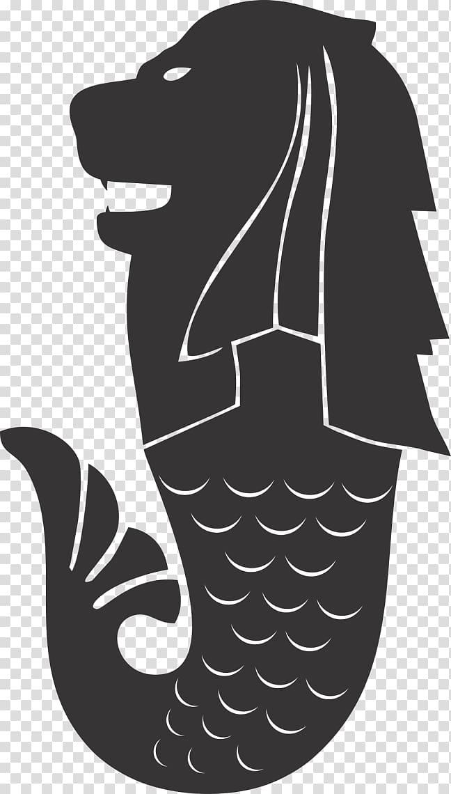 Flag of Singapore Merlion Mermaid, lion transparent.