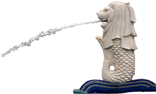 Merlion Singapore Png Vector, Clipart, PSD.