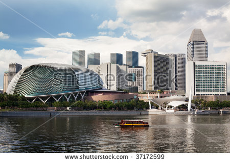 Singapore Esplanade Stock Images, Royalty.