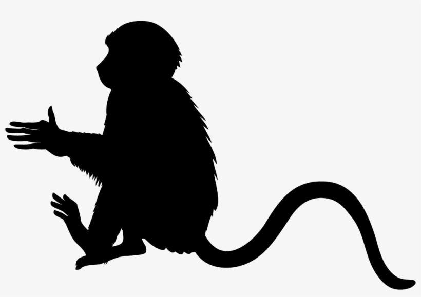 Monkey Black Silhouette.