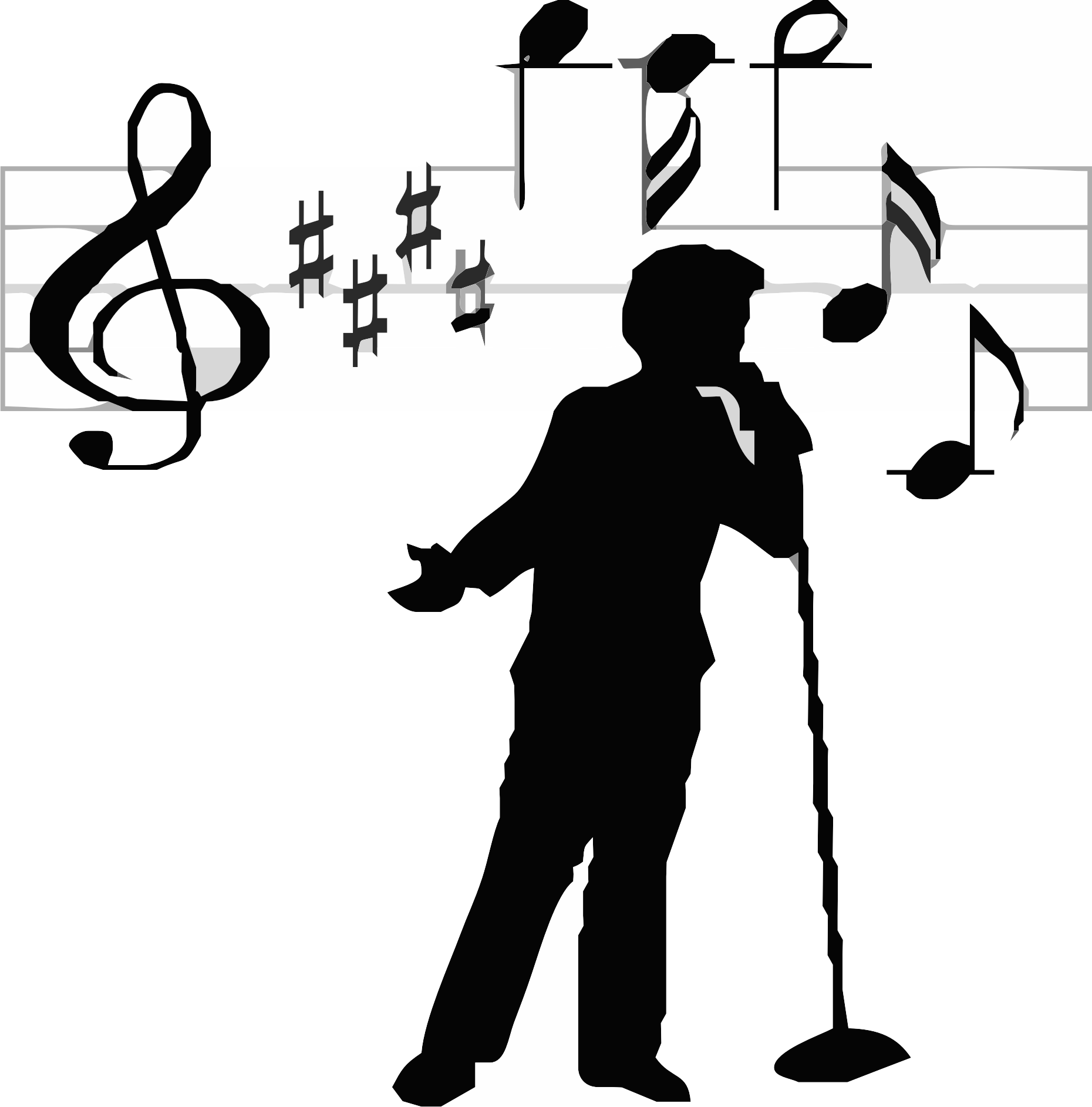 Free Singer Silhouette Cliparts, Download Free Clip Art.