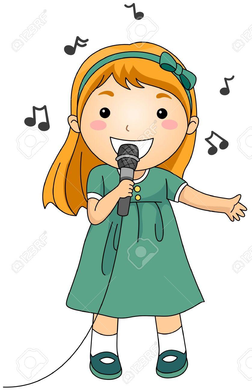clip art singer: Illustration.