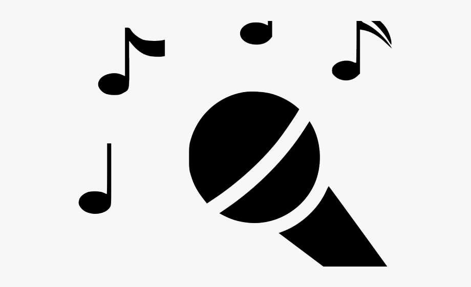 Singing Clipart Black And White.