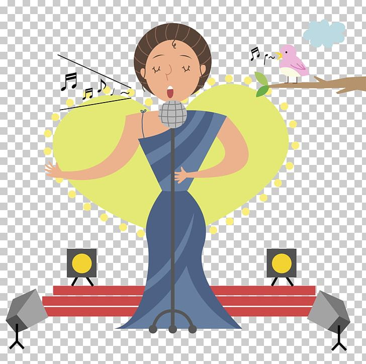 Singing Stage Illustration PNG, Clipart, Boy, Business Woman.