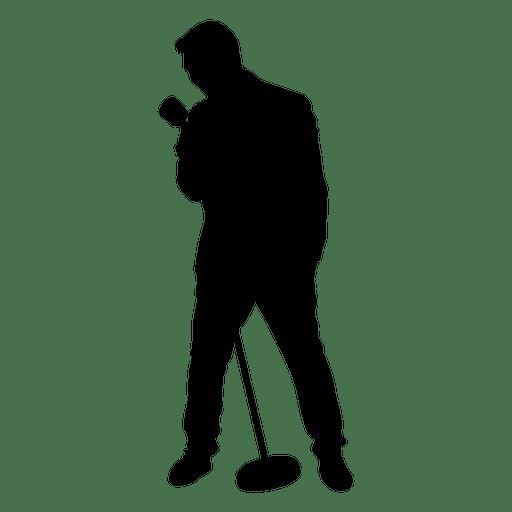 Singer silhouette.