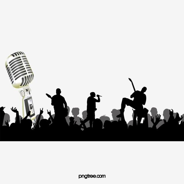 Singer, Live Concert, Background, Sketch PNG Image and.