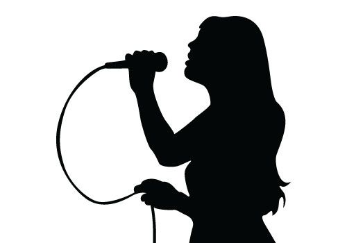 Free vector download of Singing Silhouette Vector, a.