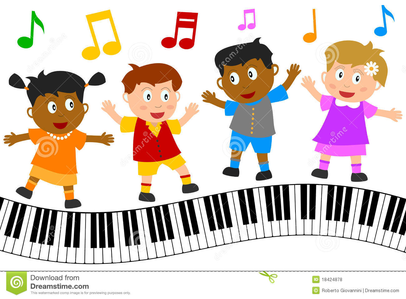 Kids Singing Clipart.