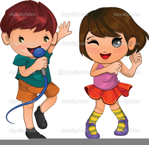 Clipart Singing And Dancing.