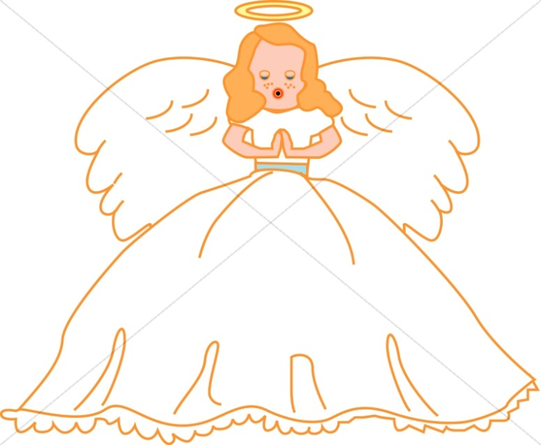 Singing Angel Clipart.