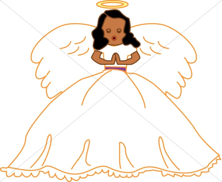 Angel Singing Clipart.