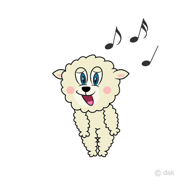 Free Singing Sheep Cartoon Image|Illustoon.