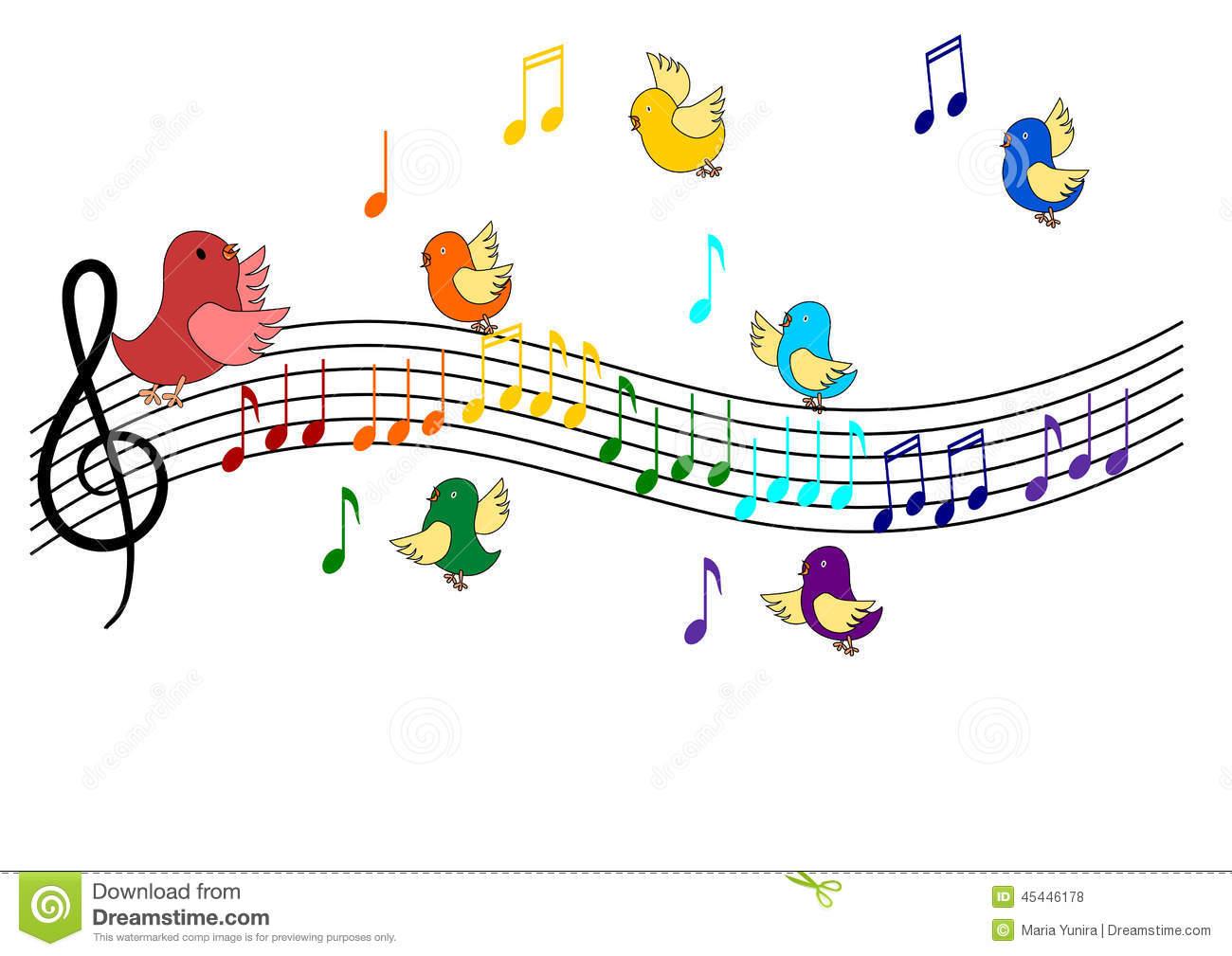 Bird Singing Clipart.
