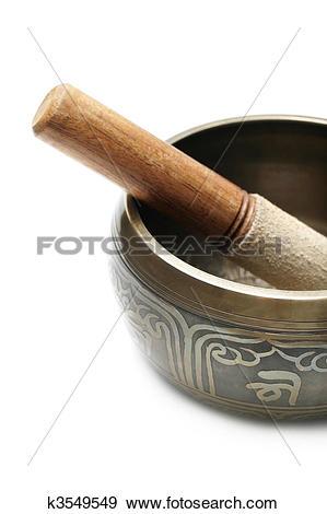 Stock Photograph of Tibetan singing bowl k3549549.