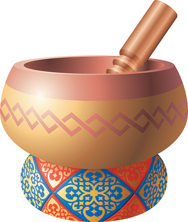 Singing Bowl Clip Art, Vector Images & Illustrations.