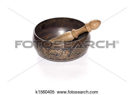 Singing bowl clipart #10