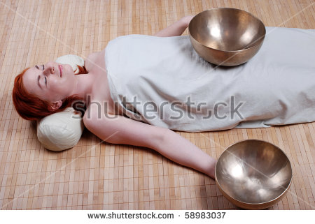 Singing bowl massage clipart #19