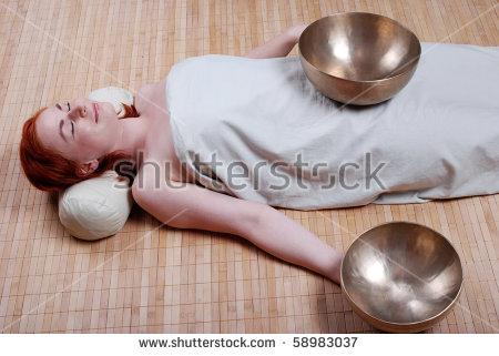 Singing bowl massage clipart #19