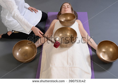 Singing Bowl Stock Photos, Royalty.