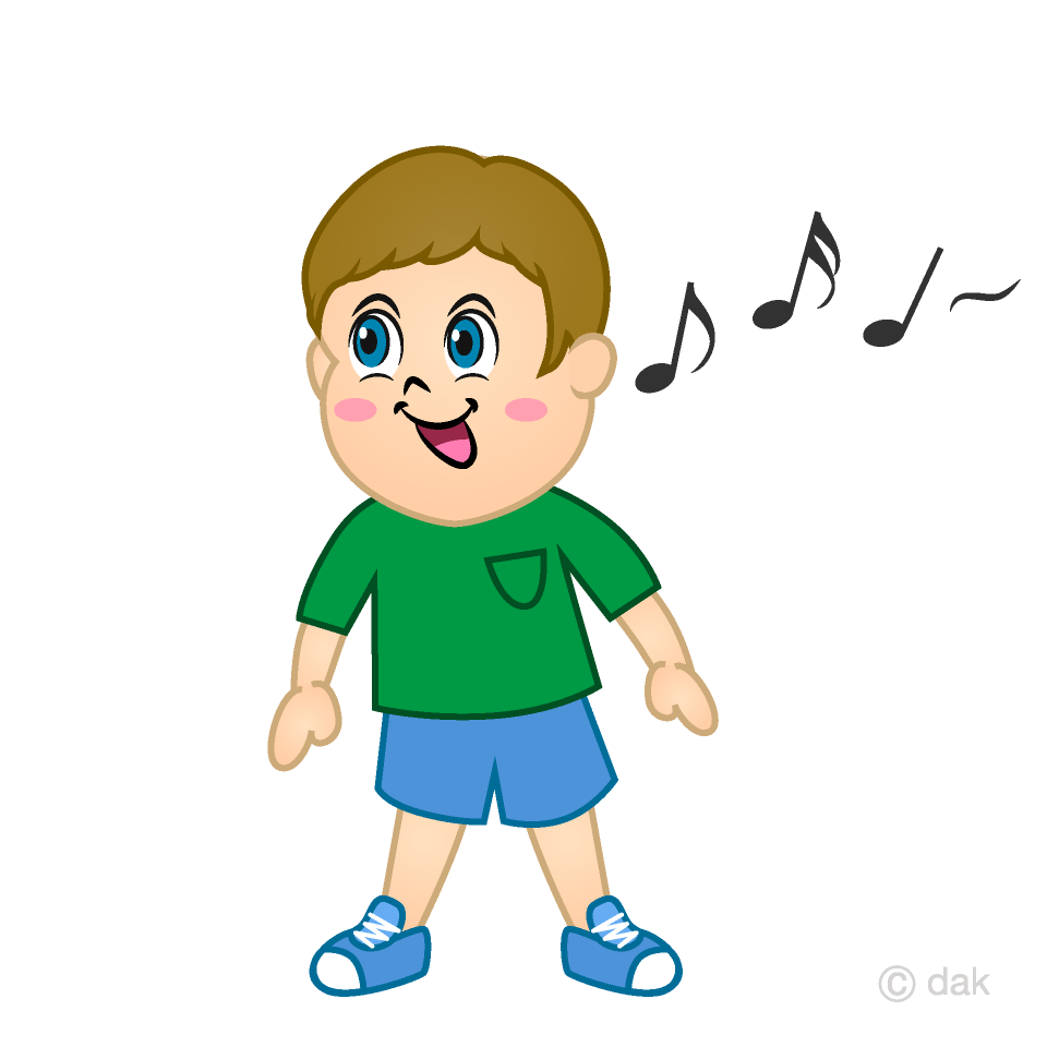 Singing Boy Clipart Free Picture|Illustoon.