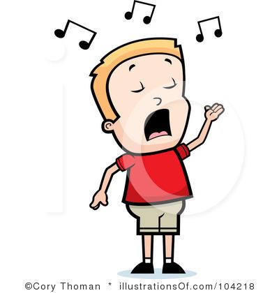 Singing Clipart.