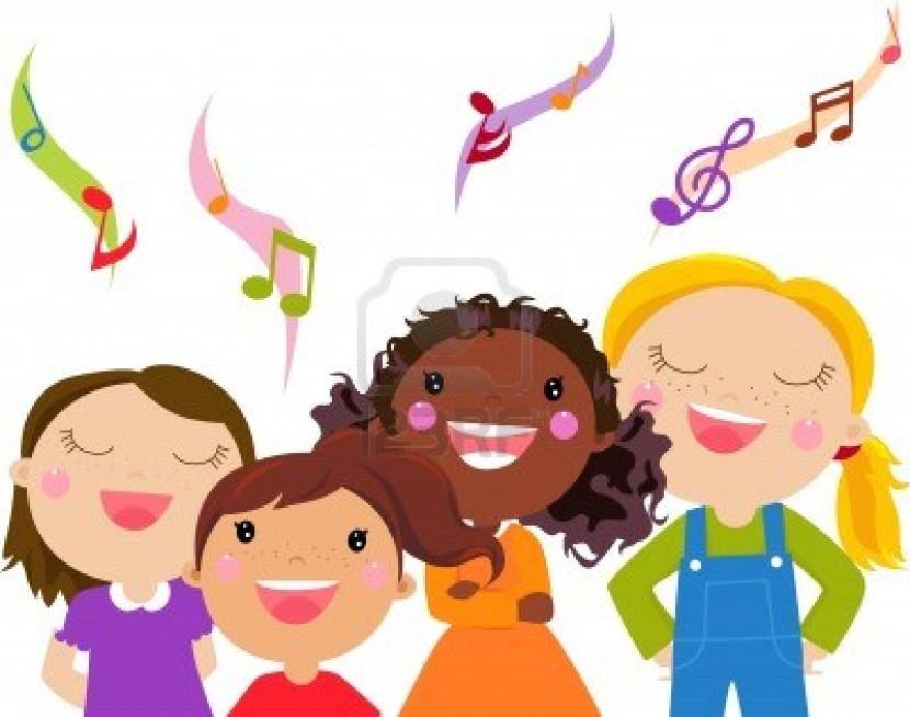 Best Children Singing Clipart #19589.