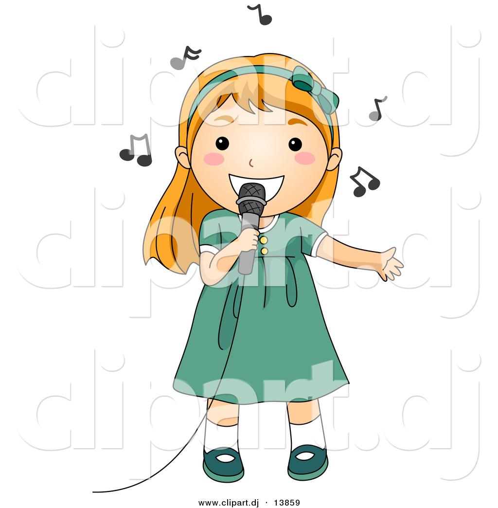 Children Singing Clipart.