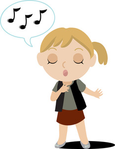 Children Singing Clipart.