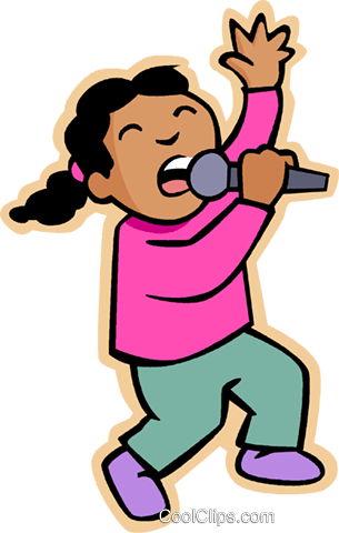Girl Singing Clipart Png.