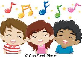 Clipart Art Kids Singing.