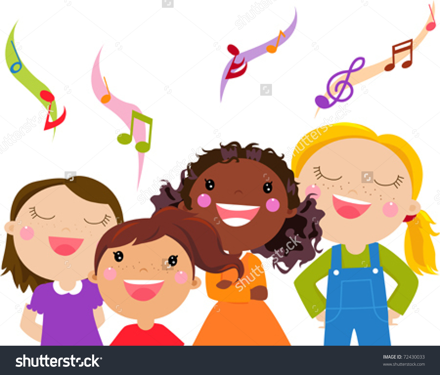 winter kids singing clipart clipground
