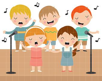 clipart children singing clipground