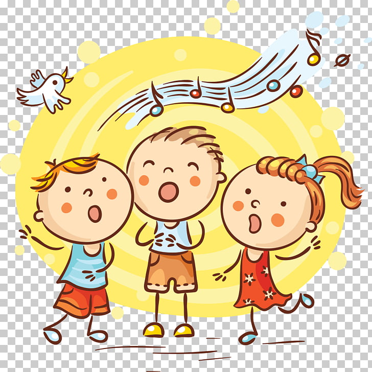Song Cartoon Singing, singing PNG clipart.