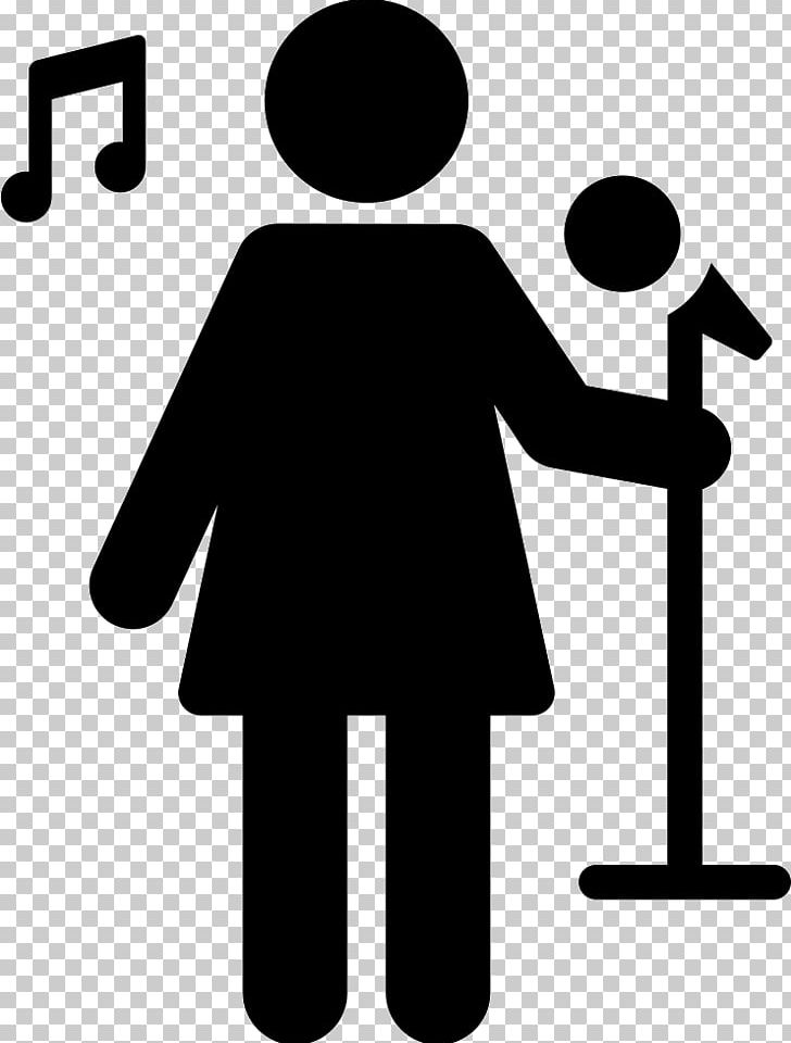 Computer Icons Singer Singing PNG, Clipart, Black And White.
