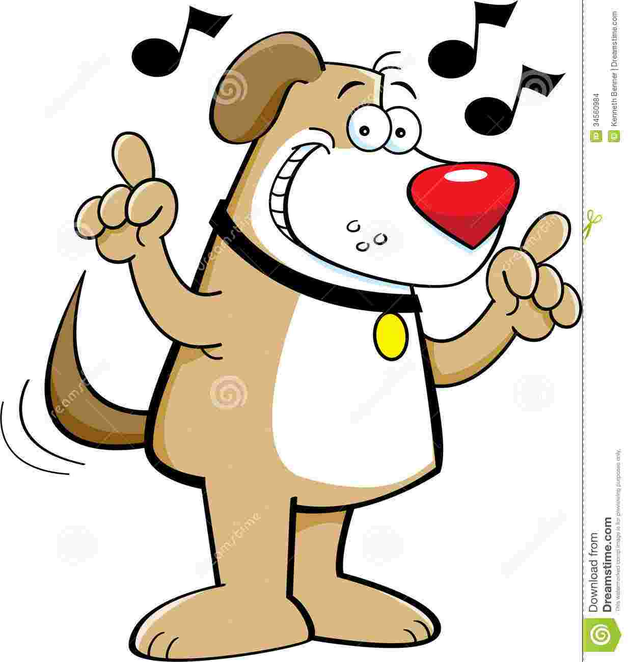 Cliparts Library: Singing Dog Clipart Pictures What Time Is.