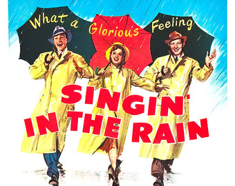 Singing in the rain.