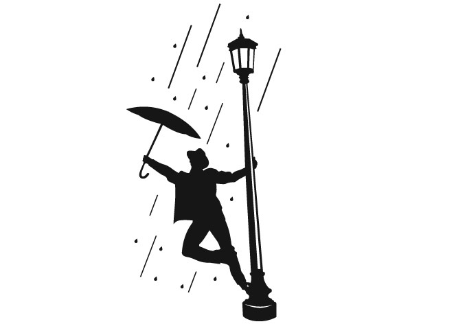 singing in the rain clipart - Clipground