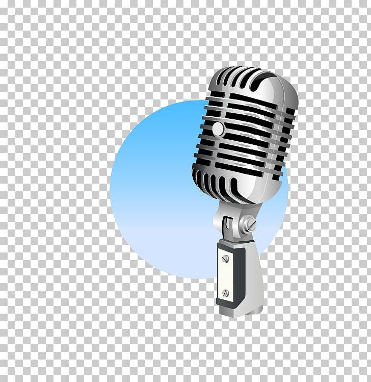 Microphone Music Singing, KTV singing microphone, silver.