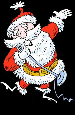 Image: Singing Santa.