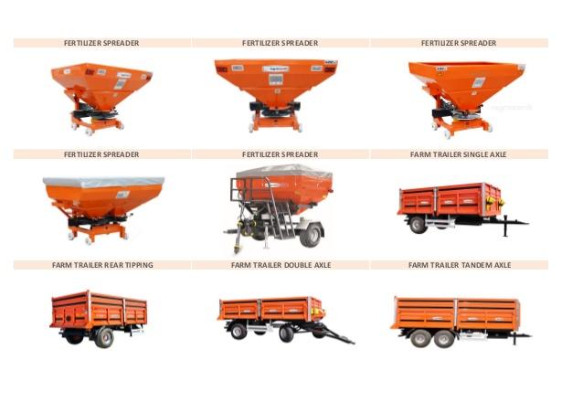 Farm equipment product li̇st.