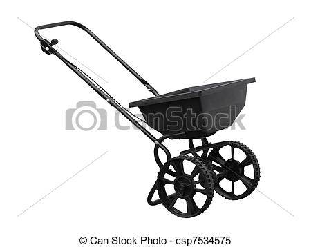 Stock Images of Fertilizer Spreader.