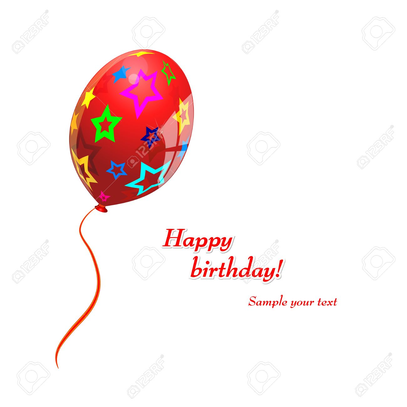 Birthday Single Red Balloon Vector Royalty Free Cliparts Vectors