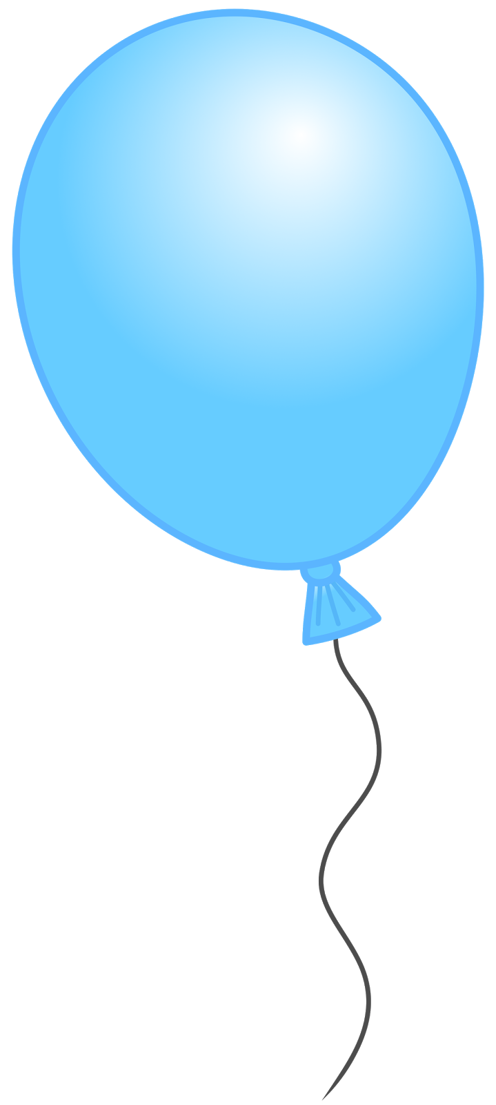 Single Birthday Balloons Clipart.
