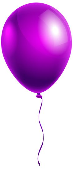 Single Modern Blue Balloon PNG Clipart Image.