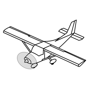 Single engine airplane clipart, cliparts of Single engine airplane.